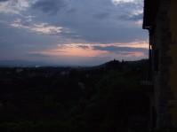 Sunset at the Pensione Bencista